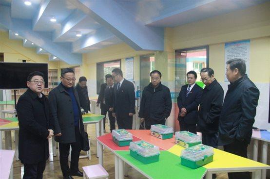 芜湖县教育局领导一行莅临我校指导工作
